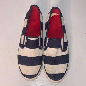 Sperry 10 Seaside Navy Striped Sneakers